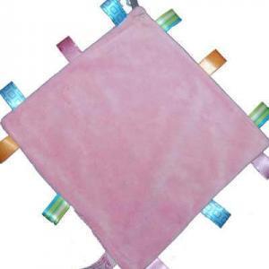 labeldoekje met naam roze
