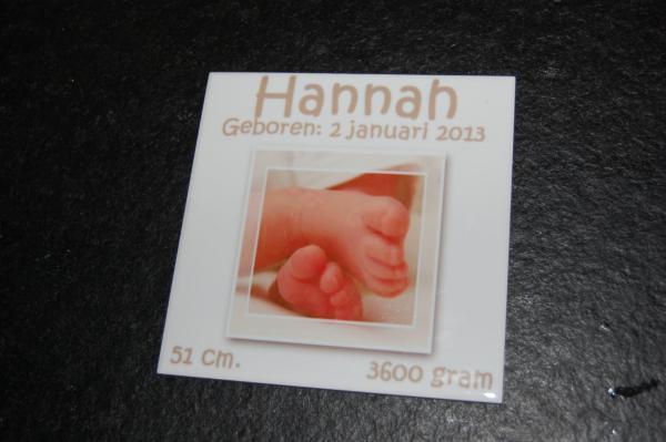 geboortetegeltje met afbeelding