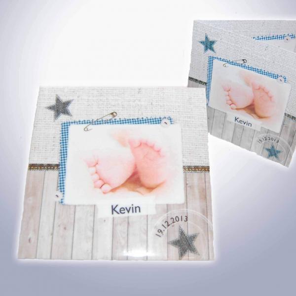 geboortetegel met eigen afbeelding
