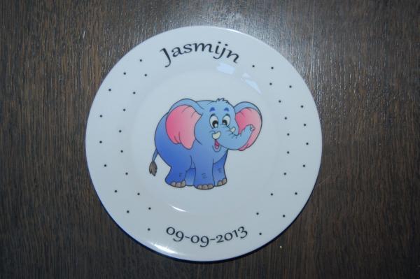 Bordje met naam en afbeelding een uniek kinderservies-2052