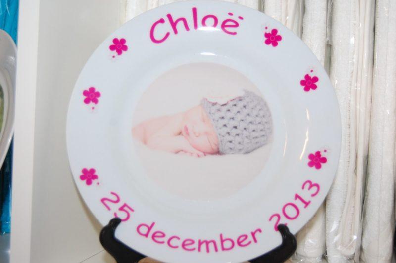 Bordje met naam en afbeelding een uniek kinderservies-2050