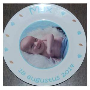 Bordje met naam en afbeelding een uniek kinderservies-2054