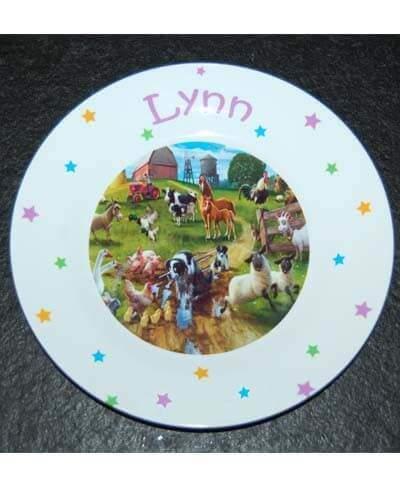 Bordje met naam en afbeelding een uniek kinderservies-2053