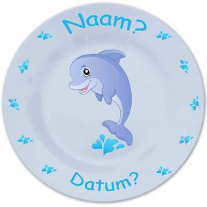 Bord met naam en dolfijn-0