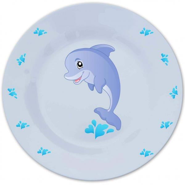 Bord met naam en dolfijn-1003