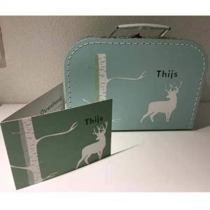 Kinderkoffertje met geboortekaartje bedrukt-2638