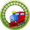 Bord met naam en trein-0