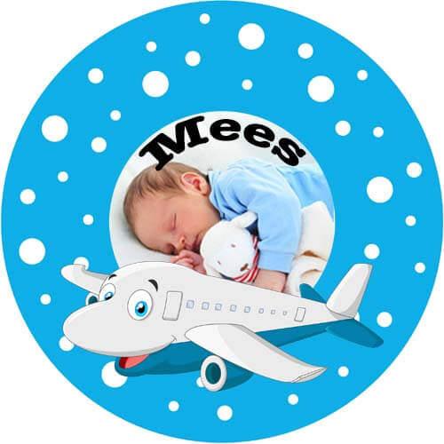 Bord met naam en vliegtuig-2602