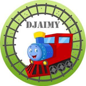 Bord met naam en trein-2599