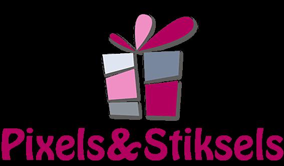 Pixels & Stiksels kraamkado met naam